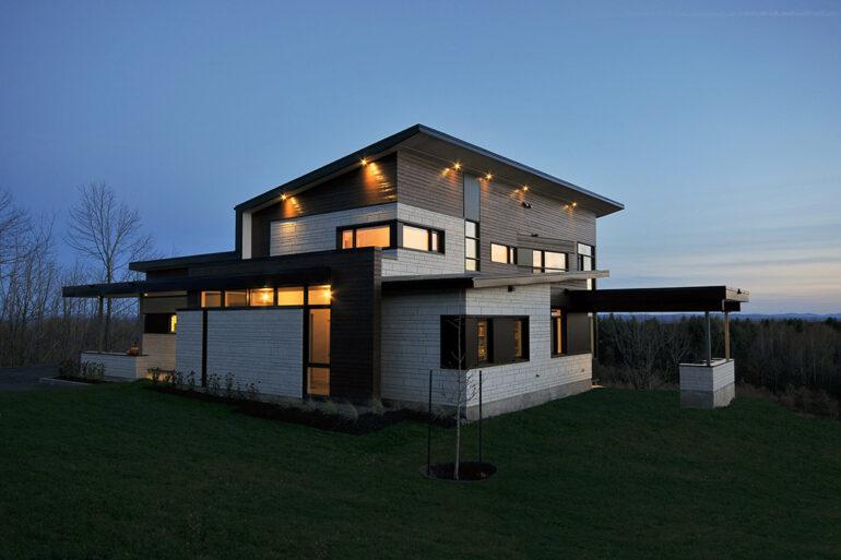résidence Caya Loignon maison contemporaine sherbrooke