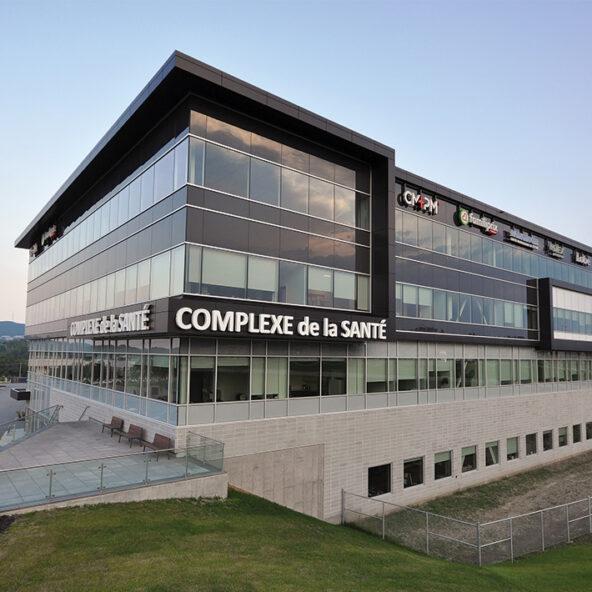 complexe santé immex sherbrooke commercial architecture