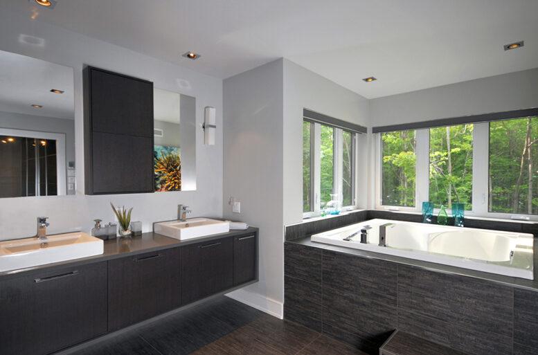 résidence Ferland-Gladu salle de bain architecture contemporaine
