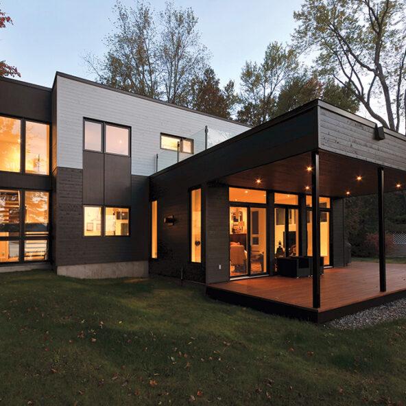 maison contemporaine idée résidence Lévesque Castonguay