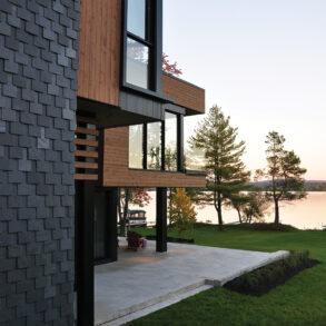 résidence contemporaine bord de l'eau architecture