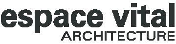 logo espace vital architecture noir