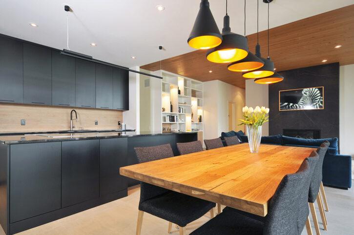 cuisine résidence Pilon Hébert espace vital architecture
