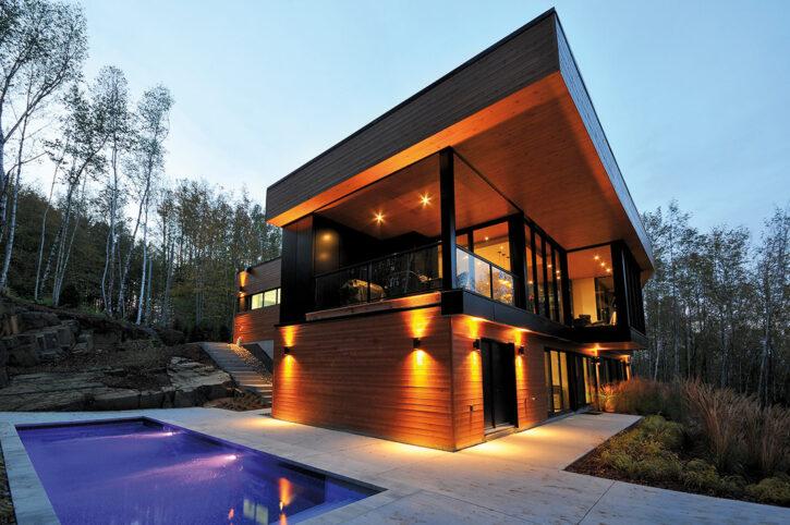 contemporain maison design résidence Pilon Hébert espace vital architecture