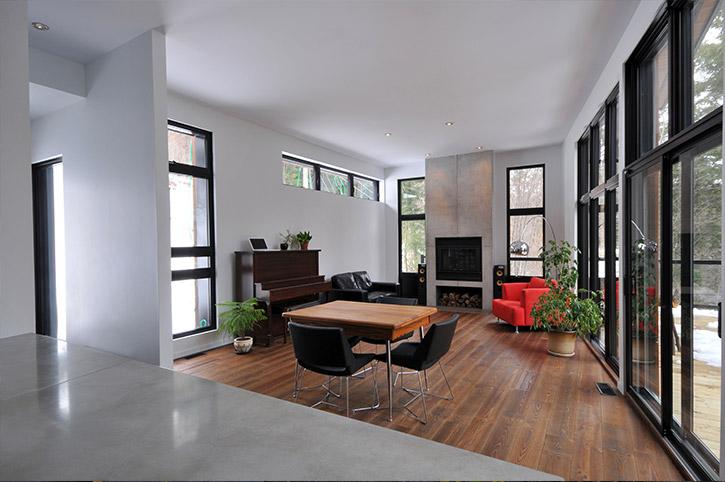 salon contemporain architecture