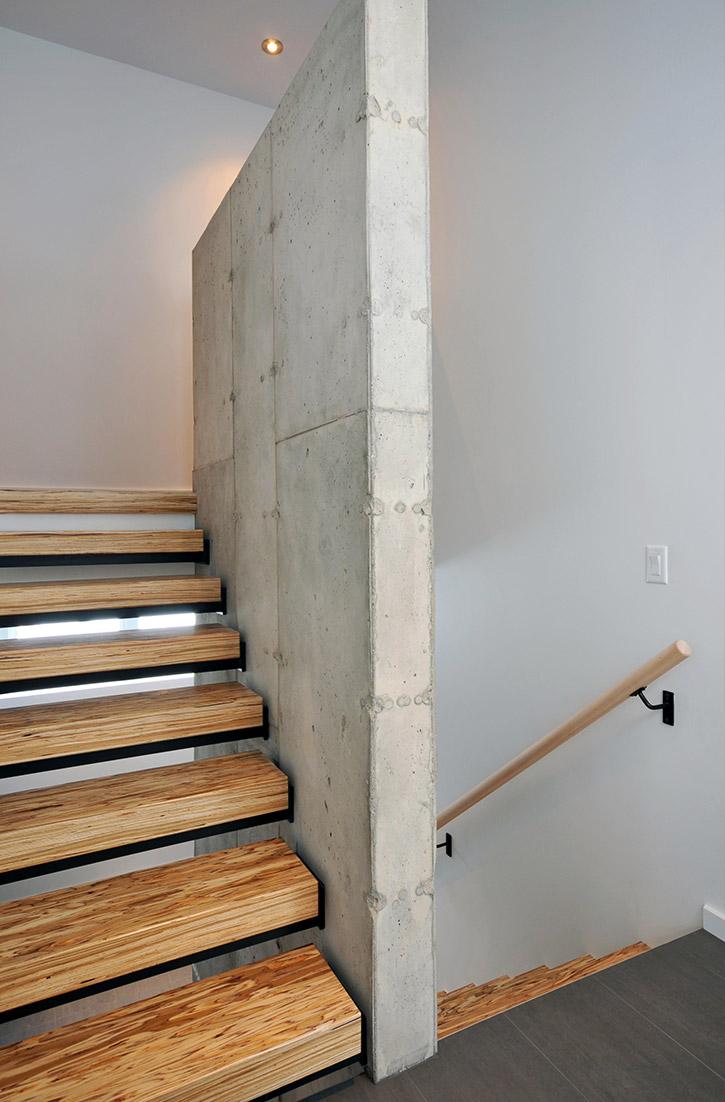 escalier contemporain design